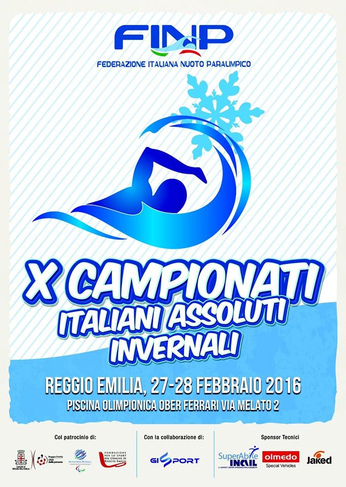 Locandina X Campionati Italiani Assoluti Invernali FINP