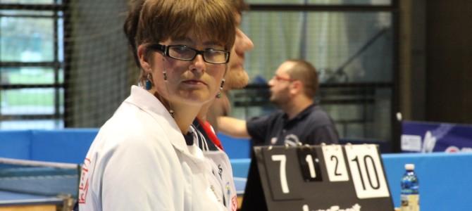 Michela Gibellini a Matera agli Italiani di Tennis Tavolo