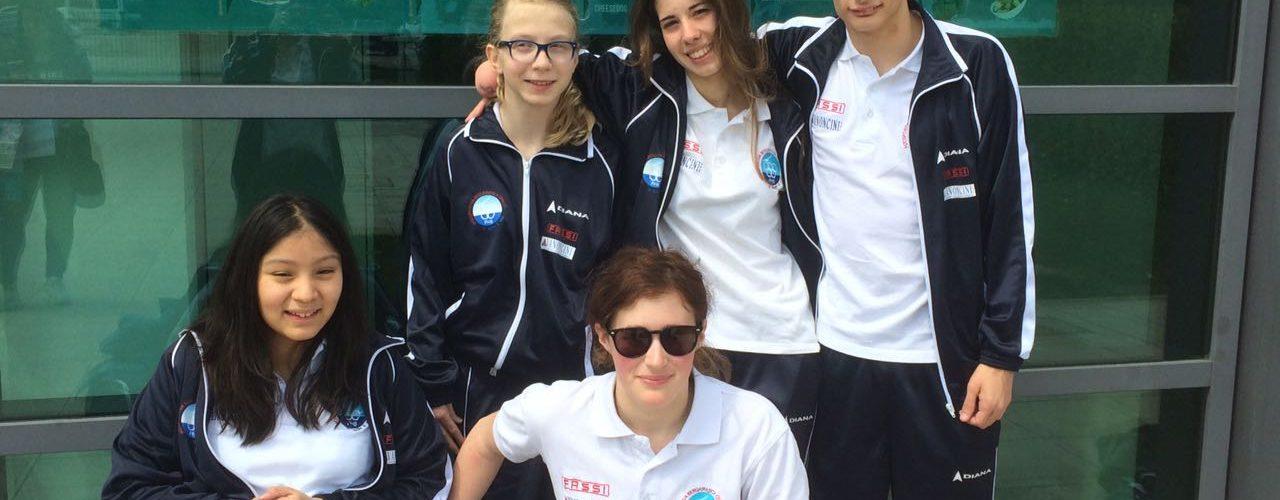 I giovani nuotatori della PHB quinti a Fabriano