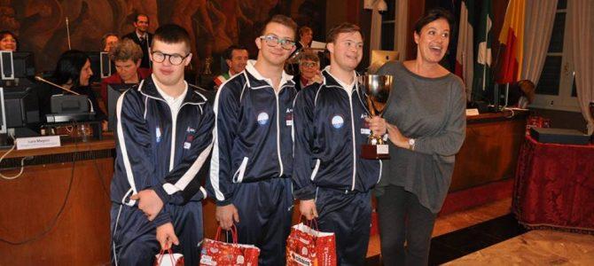 Il Comune di Bergamo premia i Campioni Italiani 2017