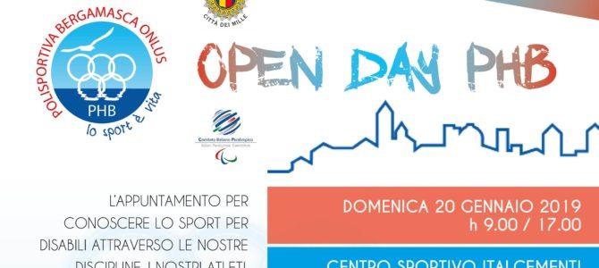 Open Day PHB 2019 il 20 gennaio