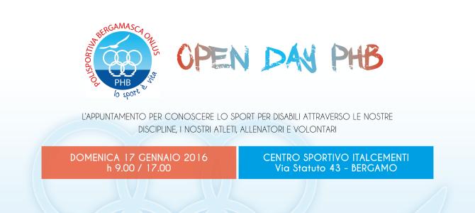 Open Day PHB il 17 Gennaio 2016
